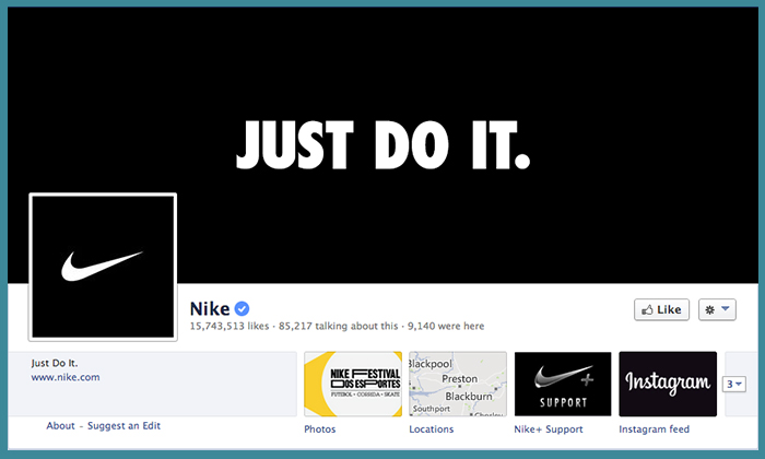 How Nike brand themselves on Social Media